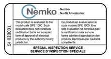 2020 Nemko_Special-Inspection Label
